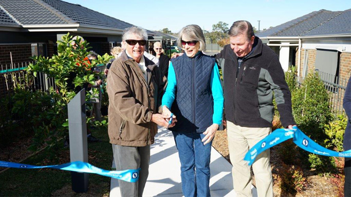 Residents opening the new community gardens at Willowdale Retirement Village in Denham Court NSW.